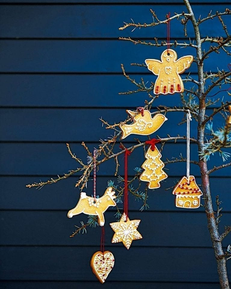 Festive hanging biscuits