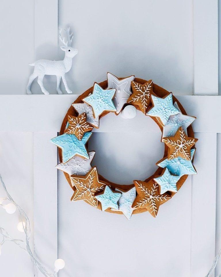 Edible star wreath