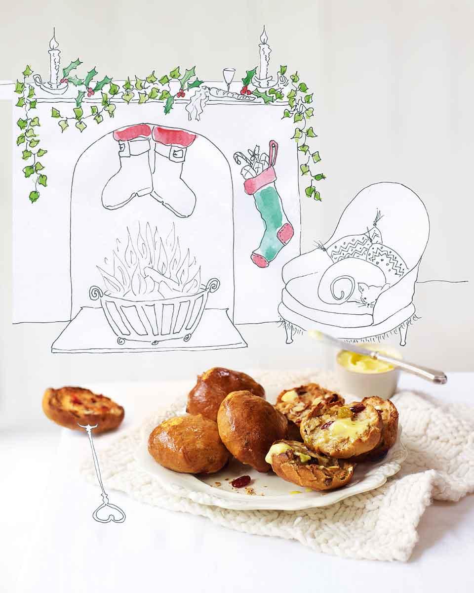 Christmas-in-a-bun spiced teacakes   delicious. magazine