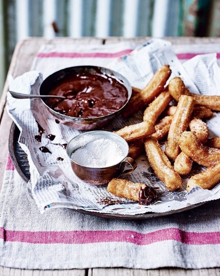 Churros with Nutella dip