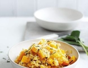 Baked butternut squash and sage risotto