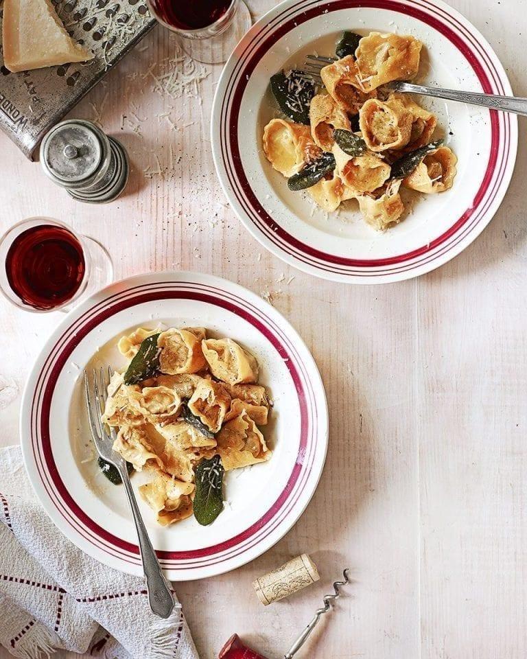 Fresh mushroom tortellini