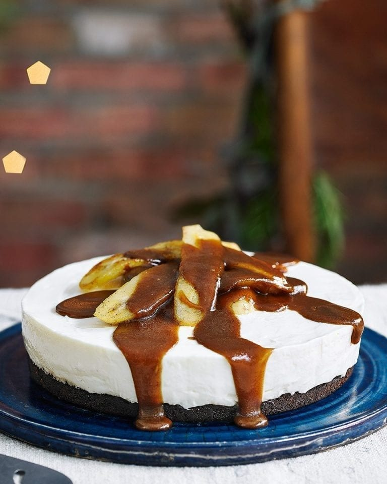 Bananas Foster cheesecake
