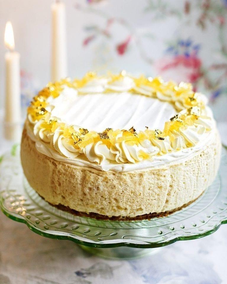 Stem ginger mousse cake