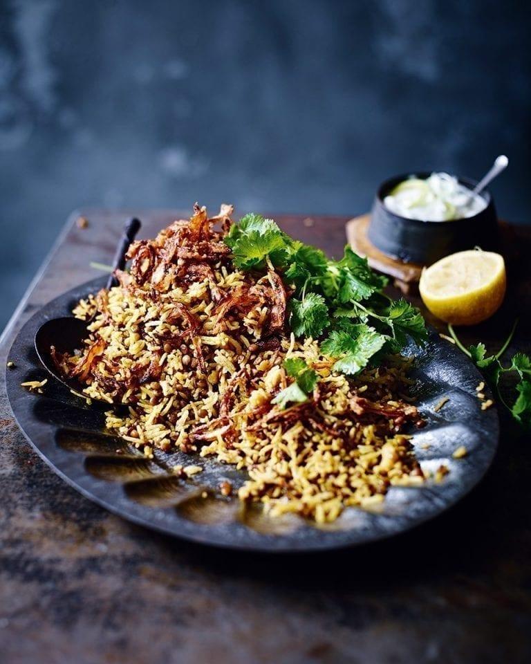 Lebanese rice and lentils (mujaddara)
