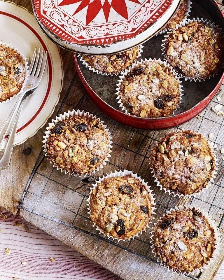 Oaty nutmeg breakfast muffins