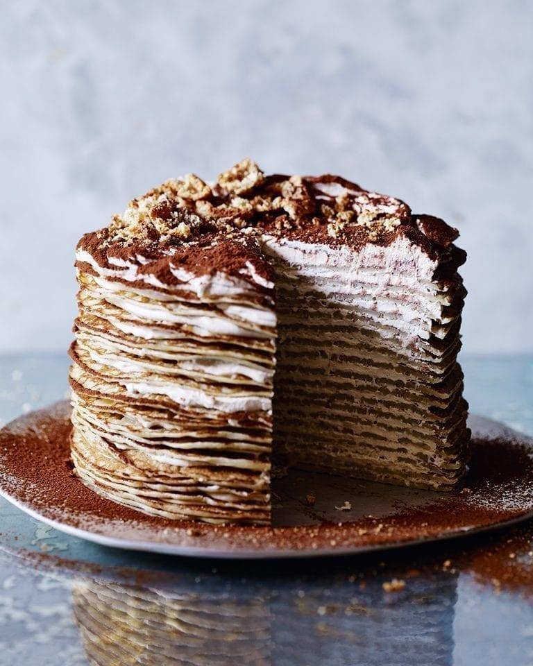Tiramisu Crepe Cake Recipe Delicious Magazine