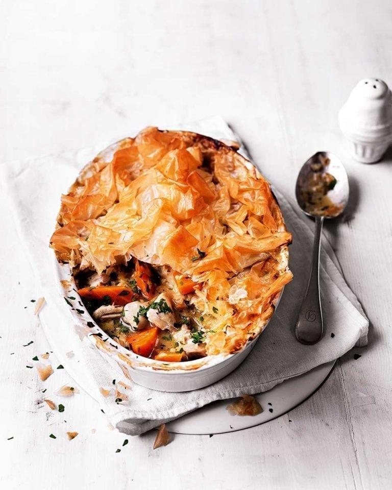 Healthier chicken and leek pie | delicious. magazine