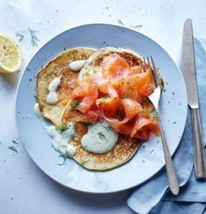 Pepparrotssås (horseradish sauce) with pickled herring and