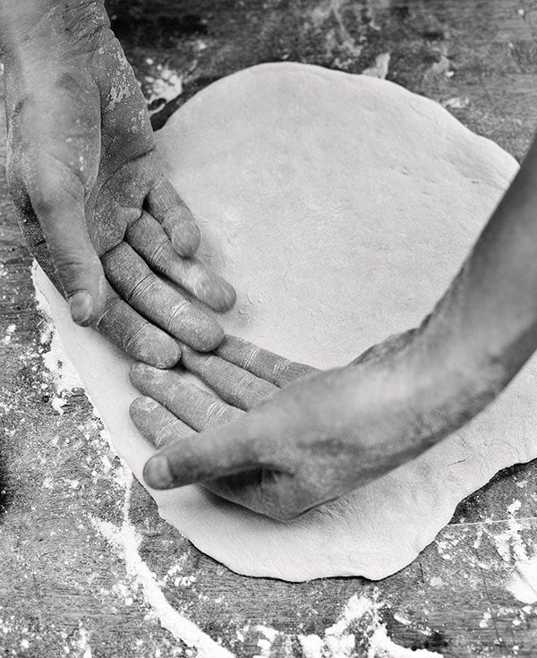 Pizza dough for two bases