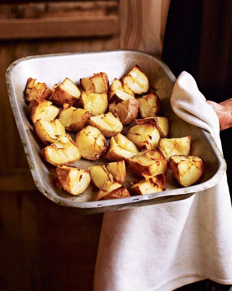Twice-roasted potatoes