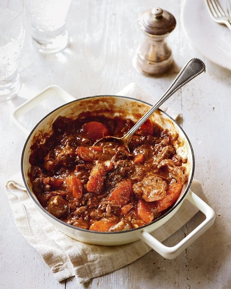 Red wine braised beef and vegetable stew