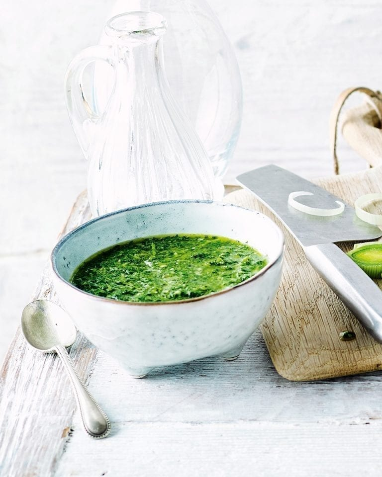 Green herb salsa