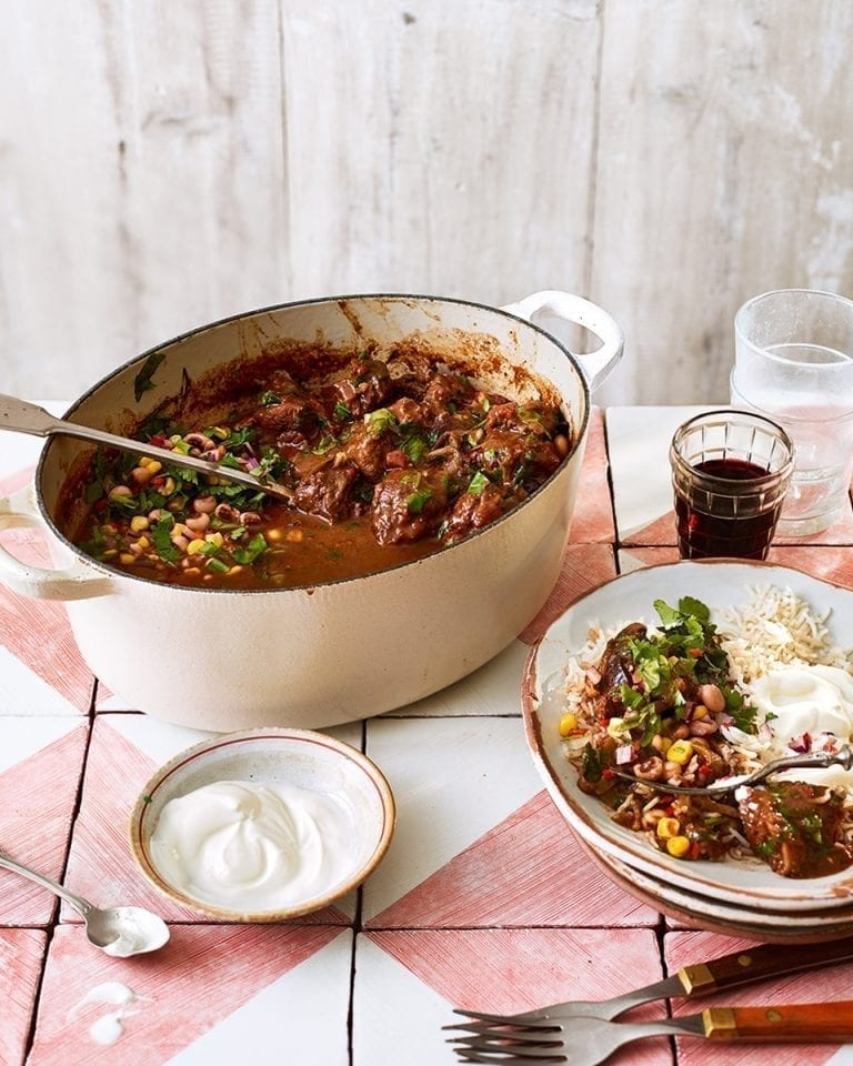 Braised beef chilli