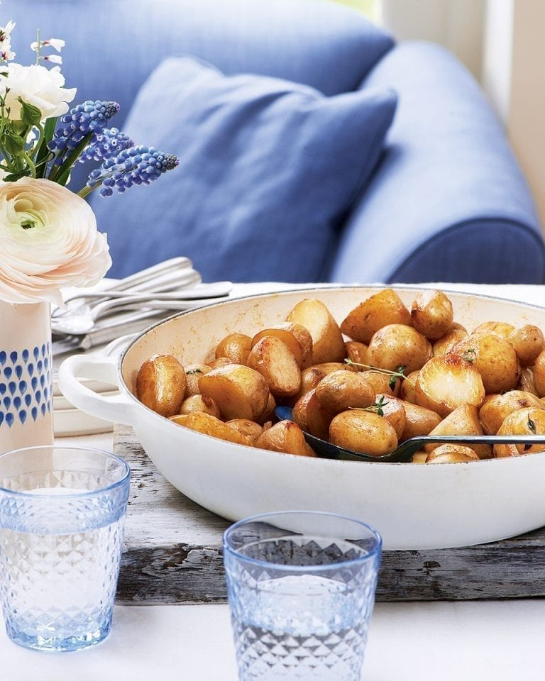 Pot-roast new potatoes