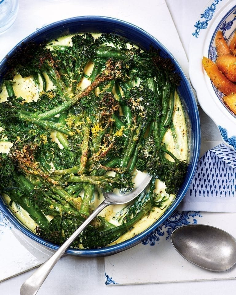 Tenderstem broccoli gratin
