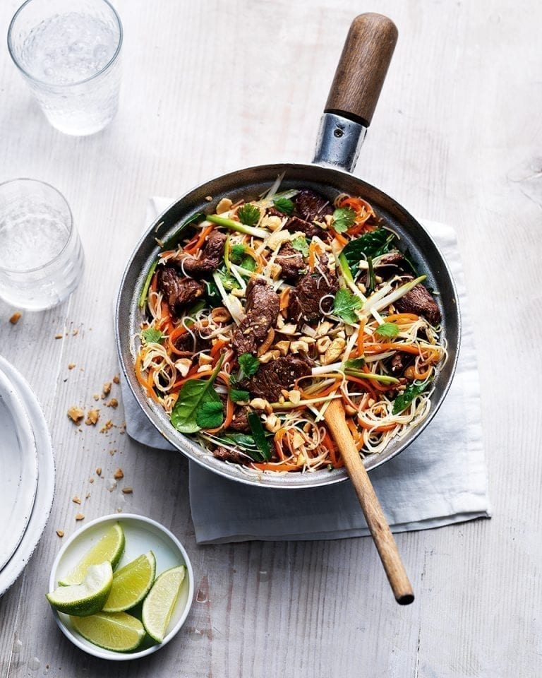 Thai-style beef noodles