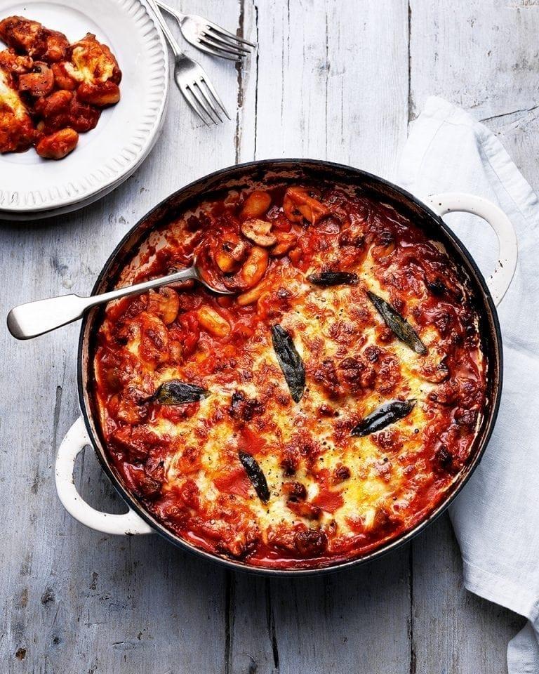 Cheesy mushroom and sage gnocchi | delicious. magazine