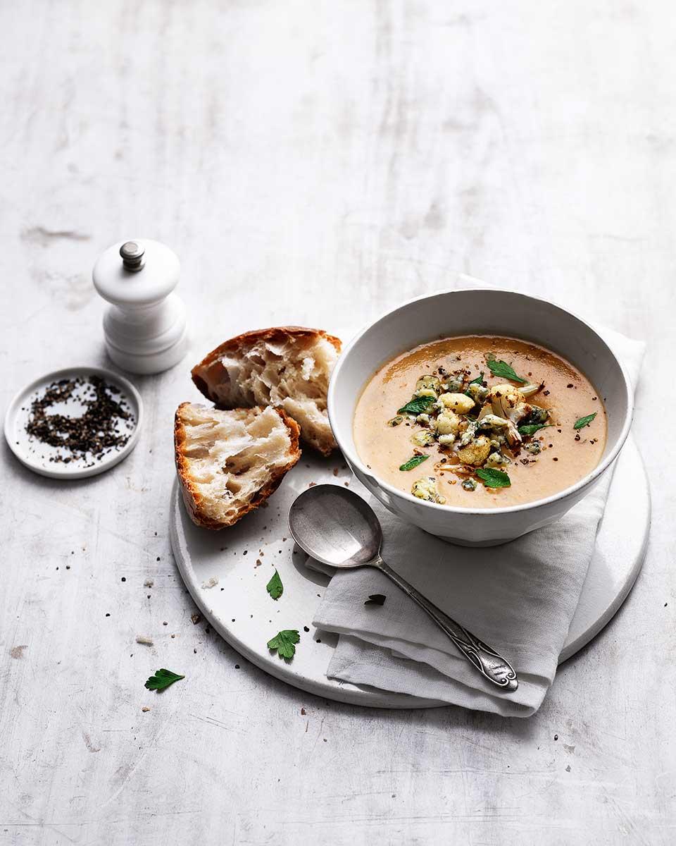 Roasted Cauliflower And Stilton Soup Recipe