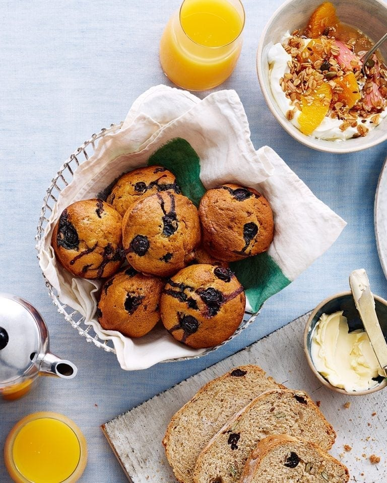 Blueberry and banana muffins | delicious. magazine