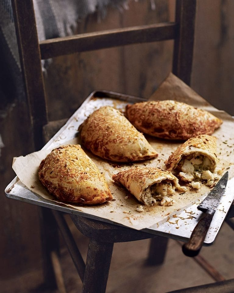 Smoked haddock, cheddar and parsley pasties