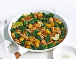 Thai-style chicken and potato curry