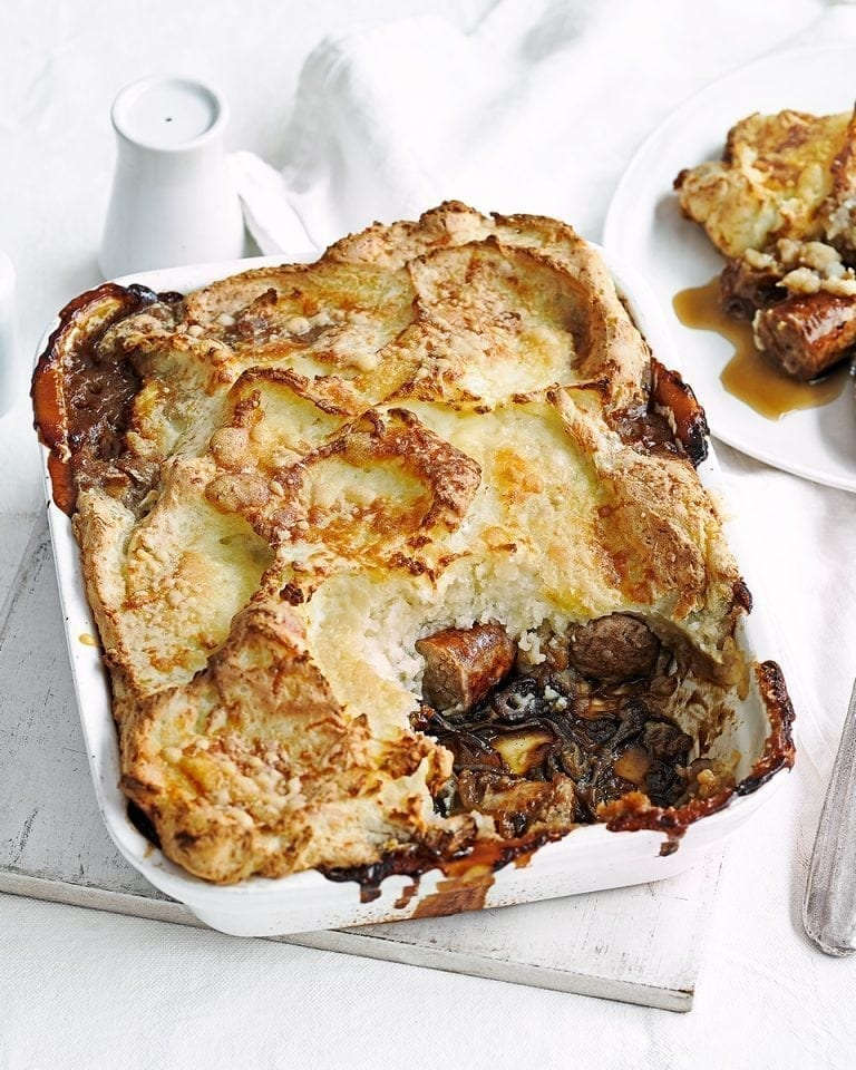 Sausage and mash pie