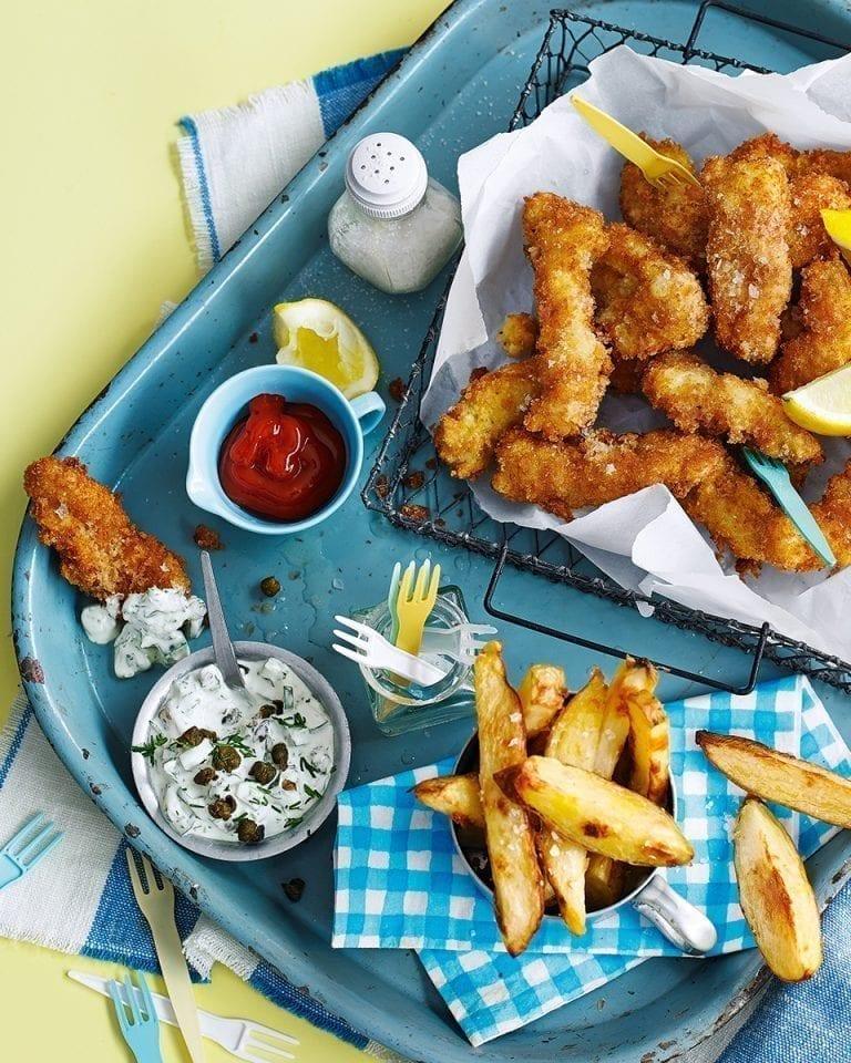 Deep-fried scampi