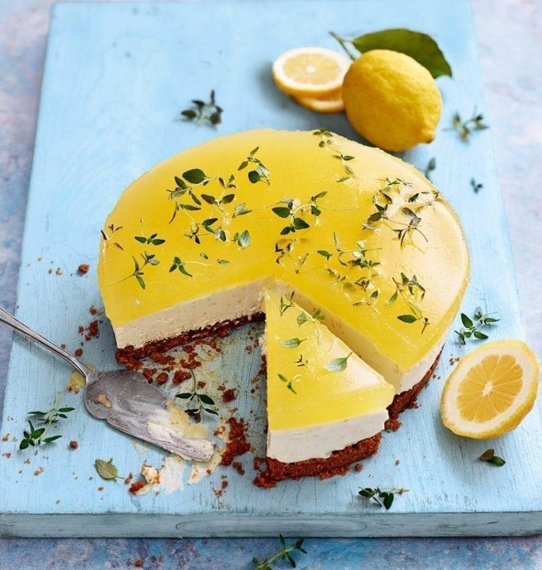 Gin and tonic cheesecake