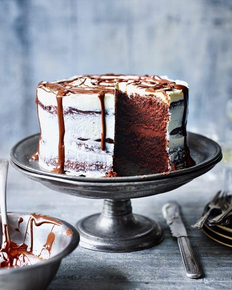 Chocolate Soured Cream Cake Delicious Magazine