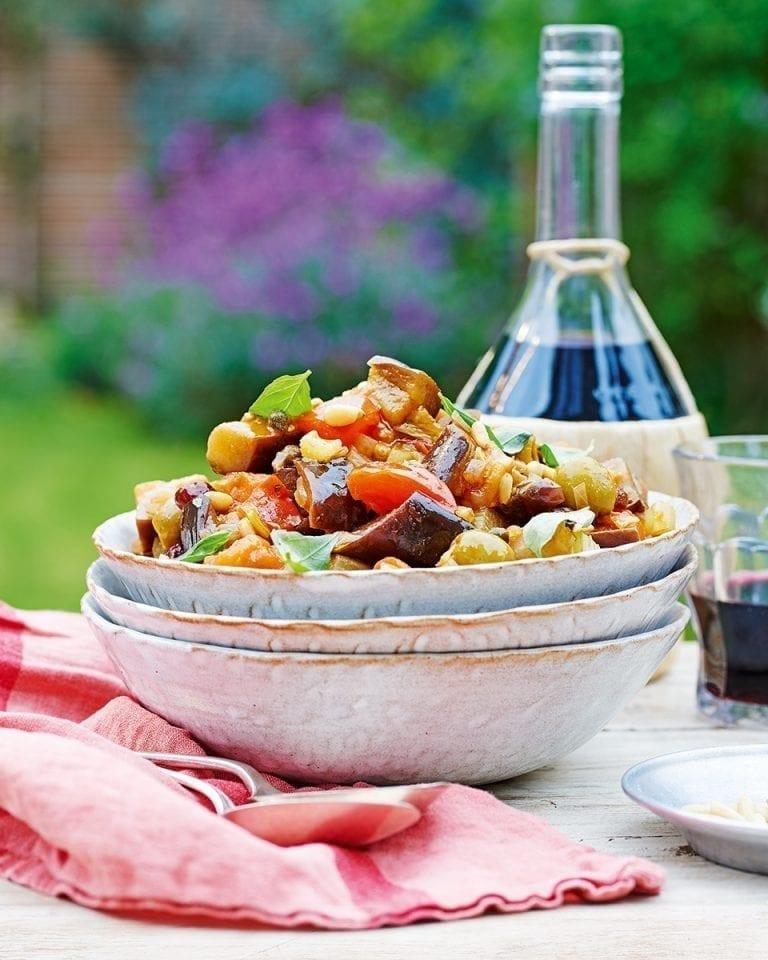 Antonio Carluccio's caponata Siciliana (Sicilian vegetable stew)
