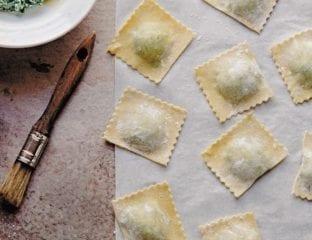 Ricotta and spinach tortelli