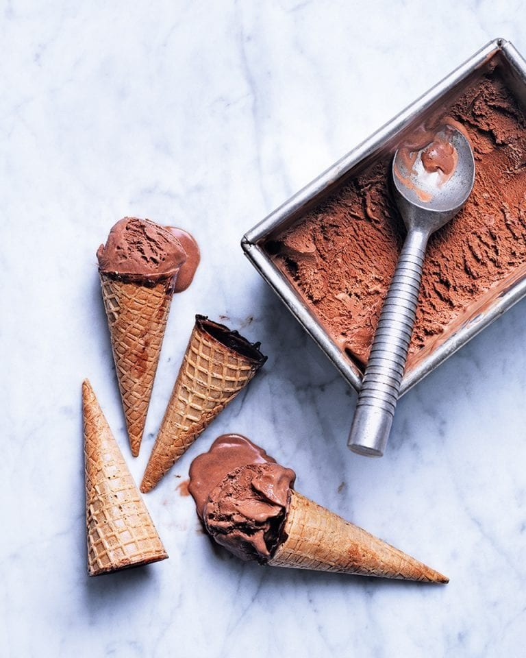 Healthier chocolate ice cream