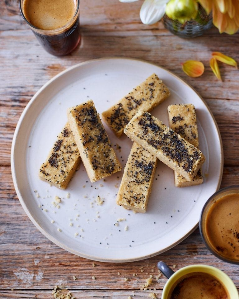 Gill Meller's brown butter and poppy seed shortbread biscuits recipe | delicious. magazine