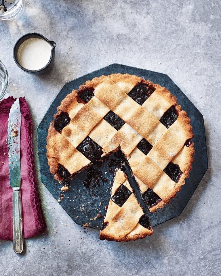 Berry jam lattice tart
