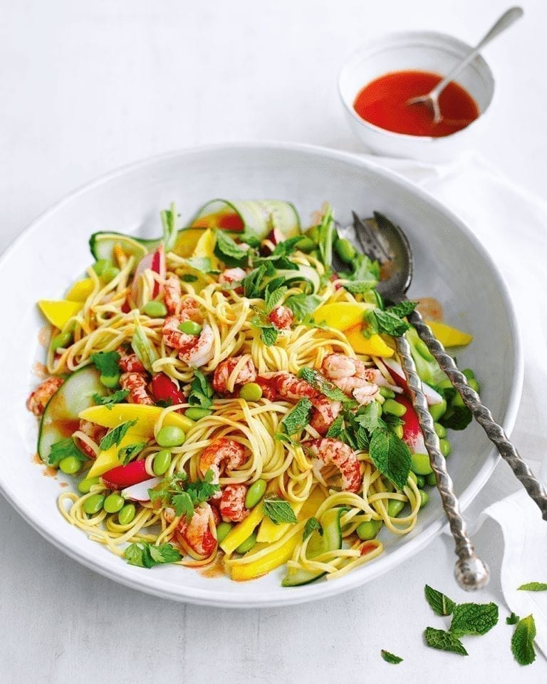Crayfish and mango salad