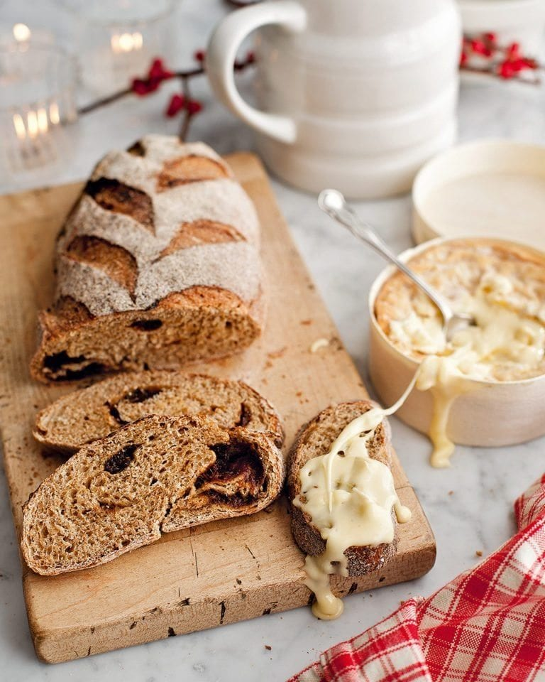 Cardamom and prune bread