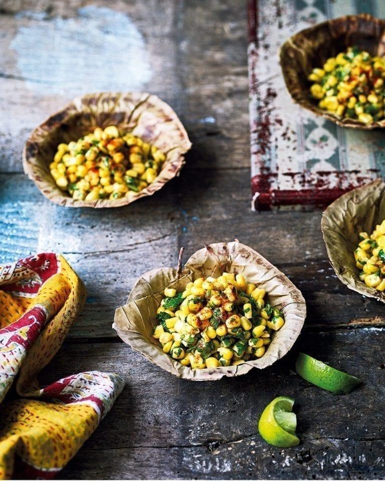 Corn chaat