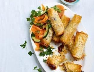 Healthier vegetable spring rolls