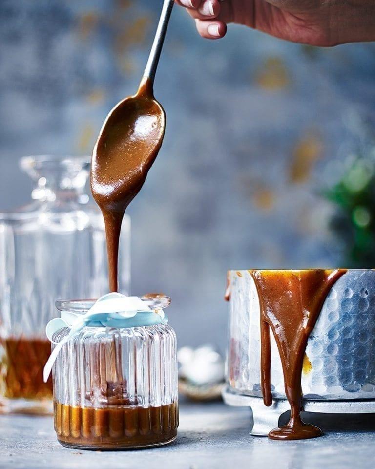 Salted caramel whisky sauce