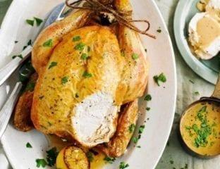 Boursin roast chicken