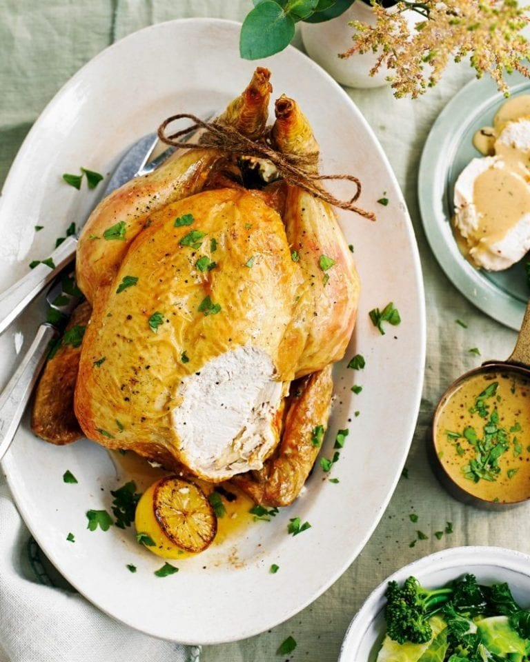 Boursin roast chicken