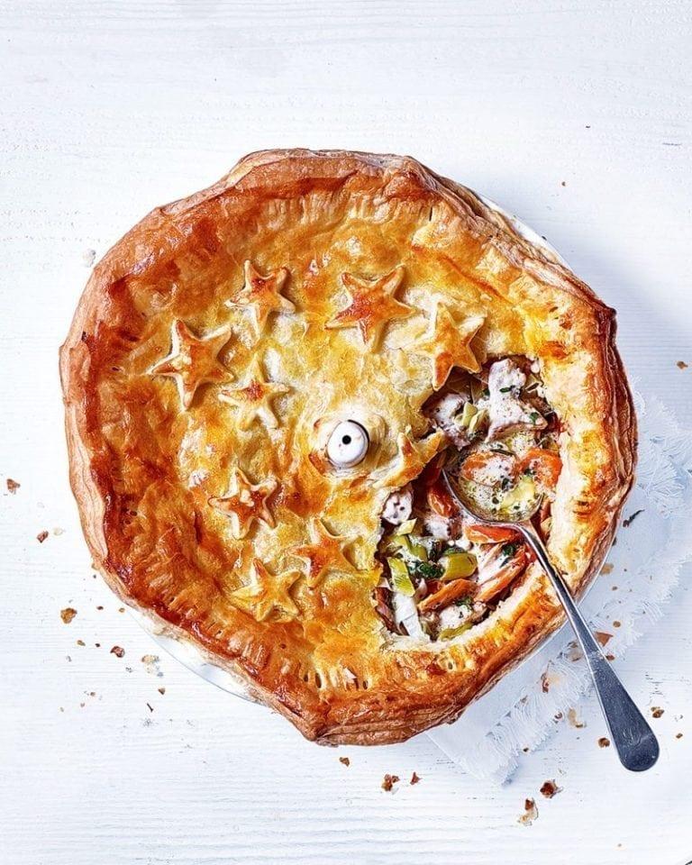 Chicken and leek pie   delicious. magazine