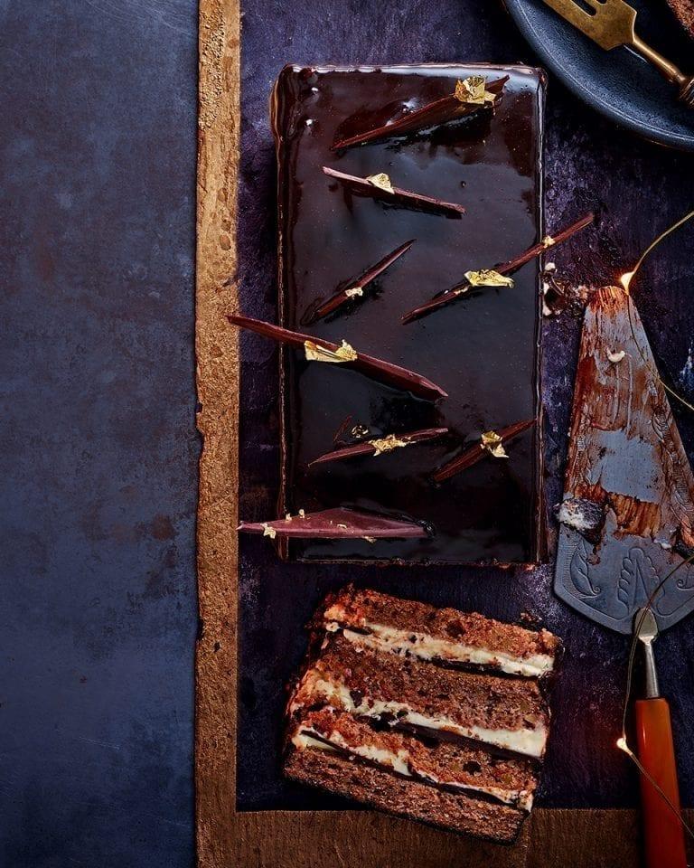 Mocha tiramisu torte