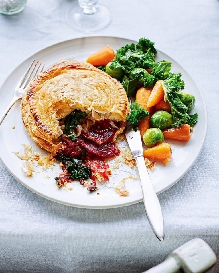 Beetroot pithiviers