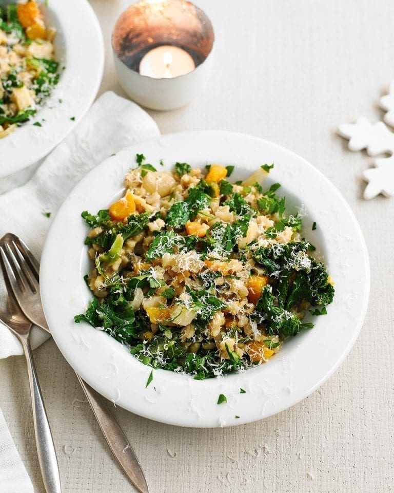 Pearl barley and vegetable stew