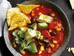 Mexican veggie and tortilla soup