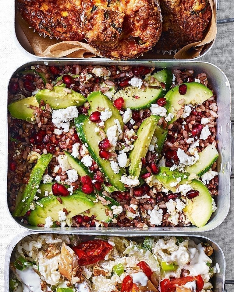 Rice salad with pomegranate molasses