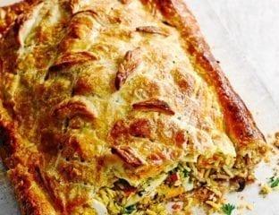 Salmon kedgeree pie