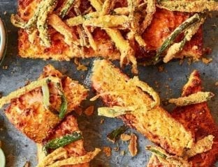 Cornbread with deep-fried crispy onions